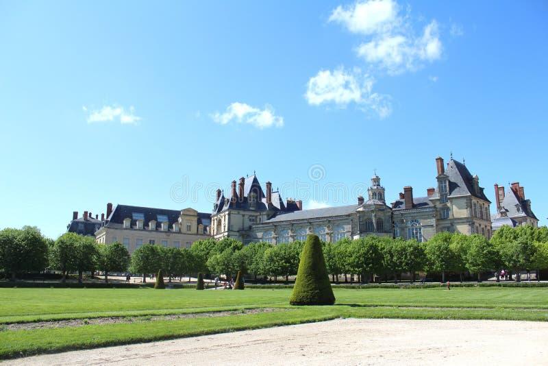 Kasteel Fontainebleau, Frankrijk stock foto's