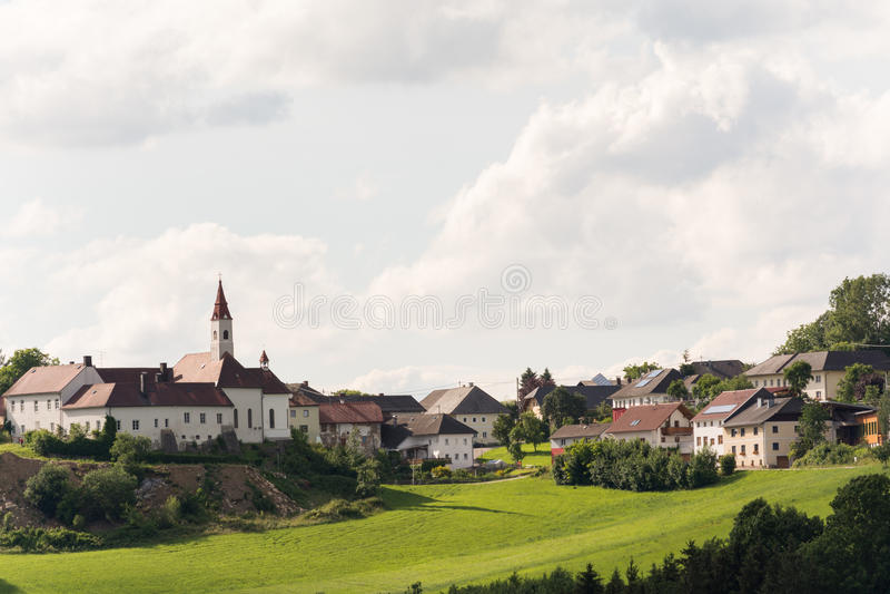 Kasteel Goetzendorf en plaats - Oostenrijk royalty-vrije stock fotografie