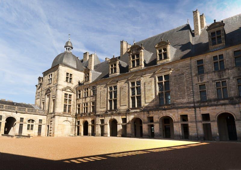 Kasteel Hautefort Dordogne Frankrijk stock foto