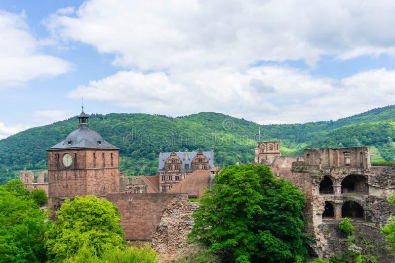 Kasteel in Heidelberg baden-Wurttemberg, Duitsland royalty-vrije stock afbeelding