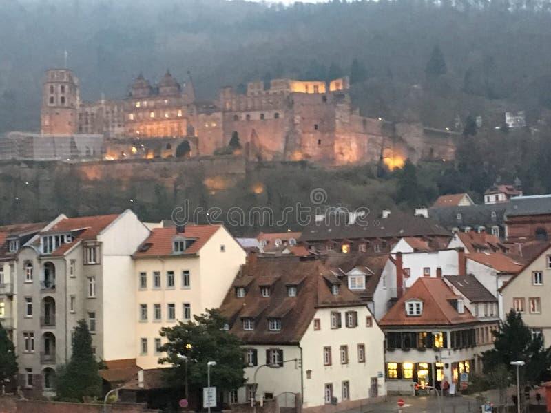 Kasteel, Heidelberg Duitsland stock foto's