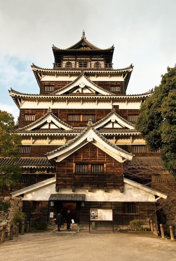 Kasteel: Hiroshima stock foto