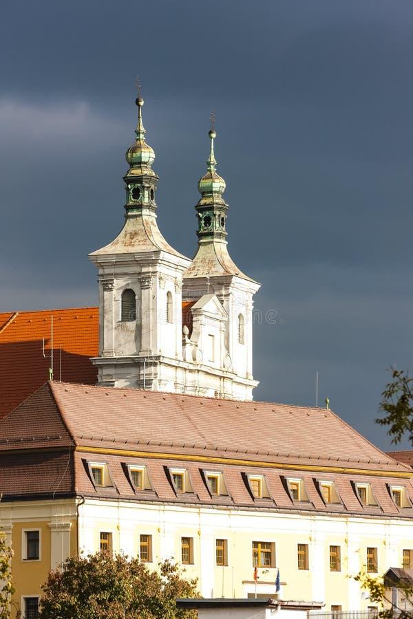 kasteel in Ilava, Slowakije royalty-vrije stock afbeelding