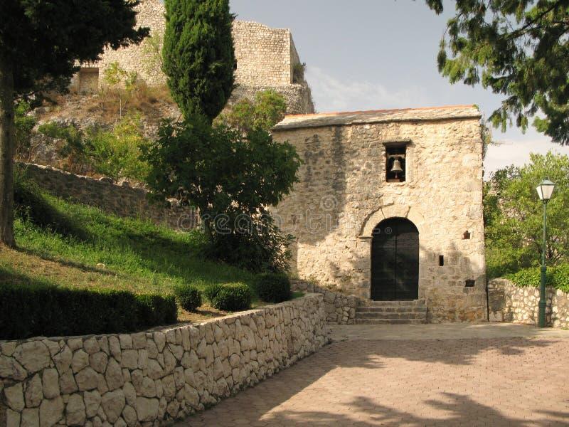 Kasteel in Imotski in Kroatië stock foto