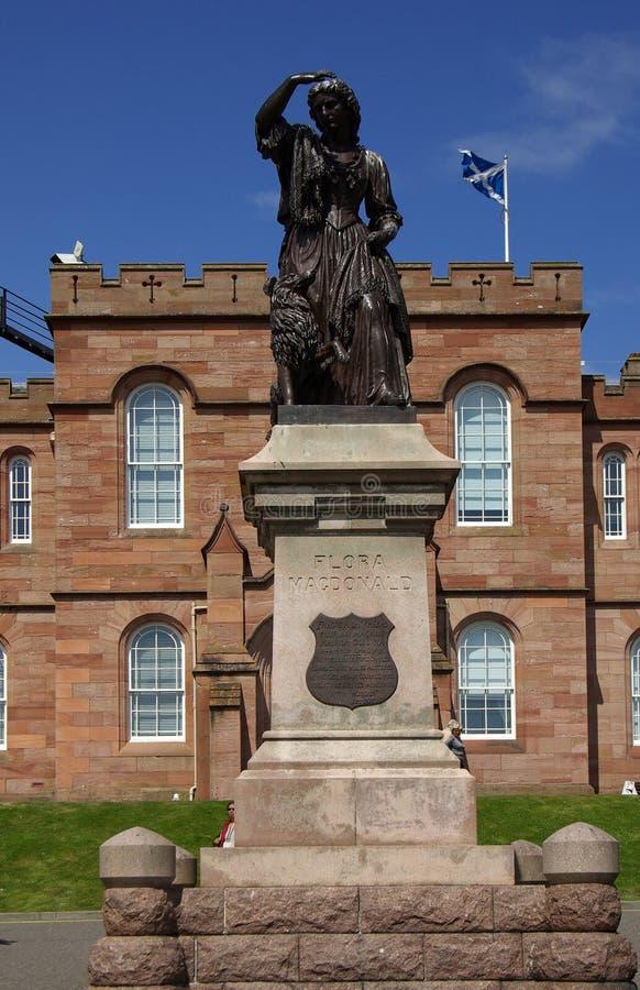 Kasteel in Inverness stock afbeelding