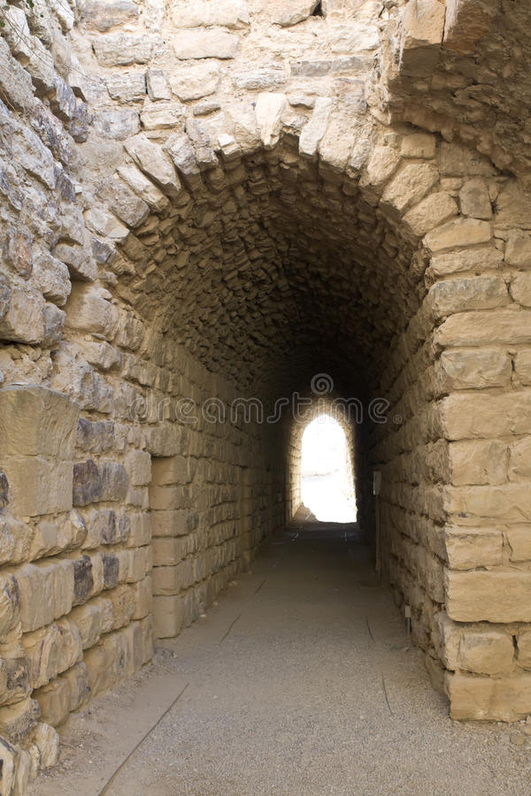 Kasteel Karak - Jordanië stock afbeeldingen