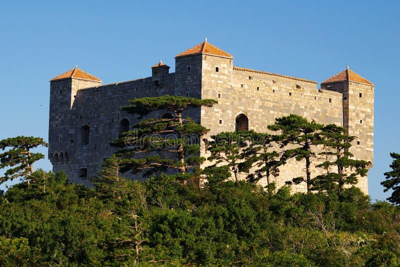 Kasteel. Kroatië stock afbeelding