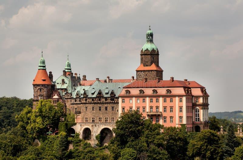 Kasteel Ksiaz in Walbrzych royalty-vrije stock afbeeldingen
