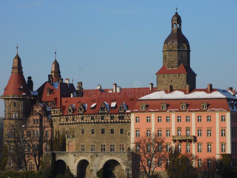 Kasteel Ksiaz in Walbrzych royalty-vrije stock foto