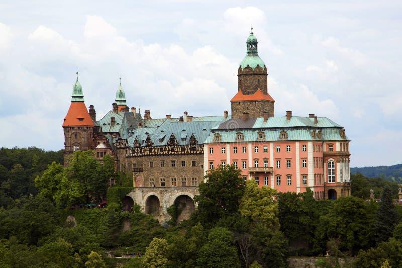 Kasteel Ksiaz in Walbrzych, in Polen. royalty-vrije stock foto