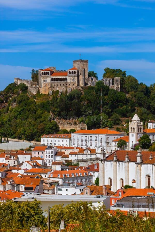 Kasteel in Leiria - Portugal stock fotografie