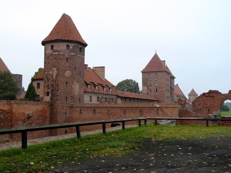 Kasteel in Malbork stock fotografie