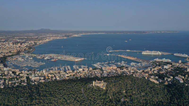 Kasteel in Mallorca stock afbeeldingen