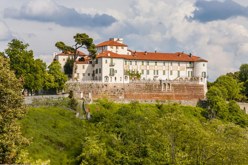 Kasteel Masino; Piemonte; Italië; Turijn, stock fotografie