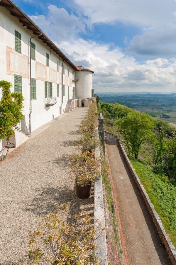 Kasteel Masino; Piemonte; Italië; Turijn, stock foto