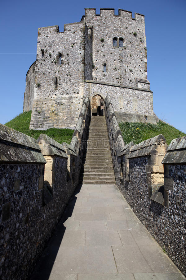 Kasteel middeleeuwse Engelse Arundel royalty-vrije stock fotografie