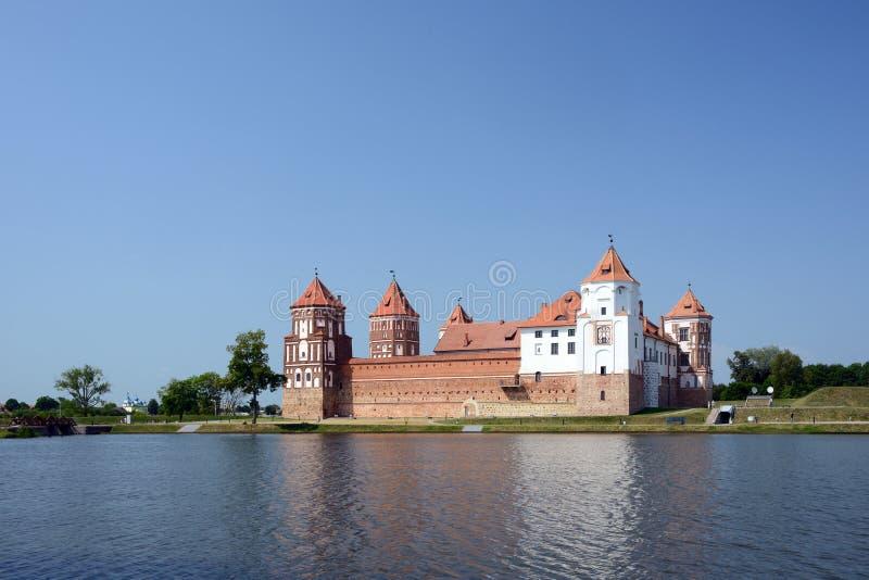 Kasteel Mir, Wit-Rusland royalty-vrije stock foto's