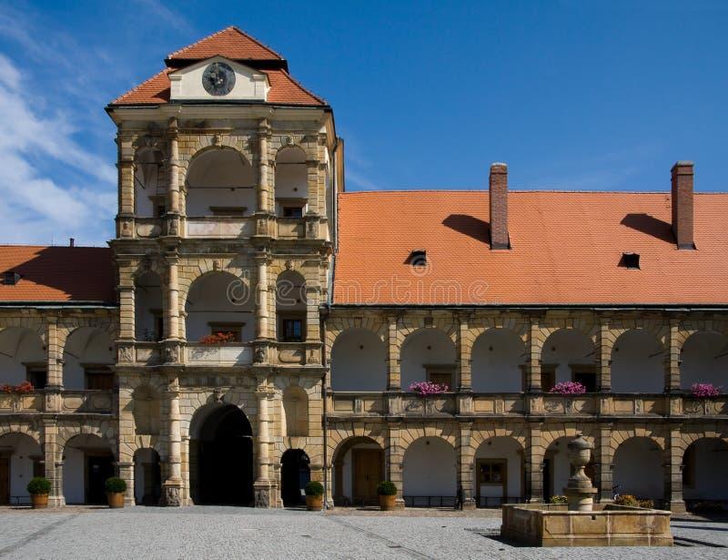 Kasteel Moravska Trebova stock afbeeldingen