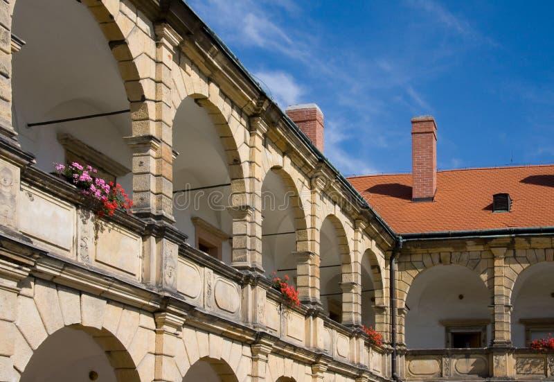 Kasteel Moravska Trebova royalty-vrije stock foto