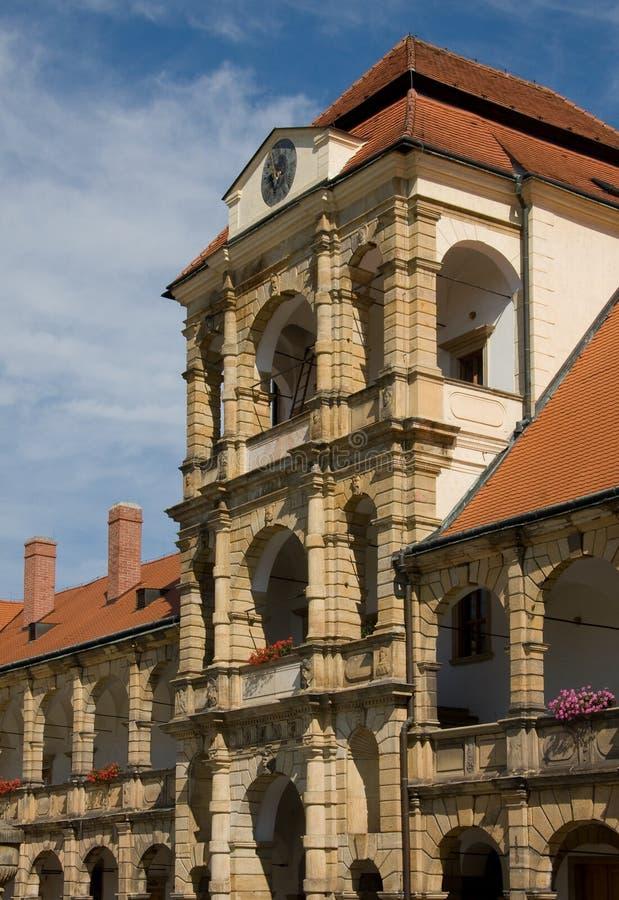 Kasteel Moravska Trebova stock afbeelding