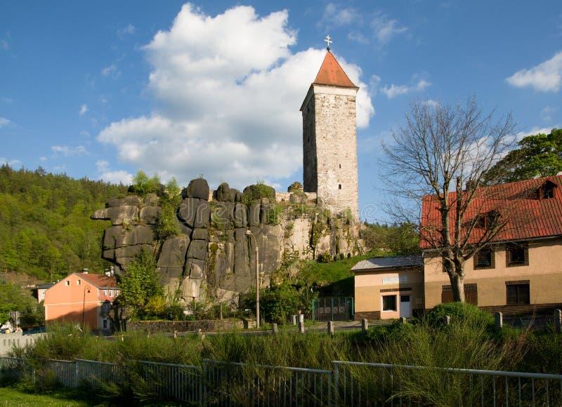 Kasteel Nejdek, Tsjechische Republiek stock afbeeldingen