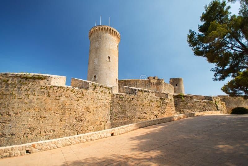 Kasteel in Palma DE Mallorca stock afbeelding