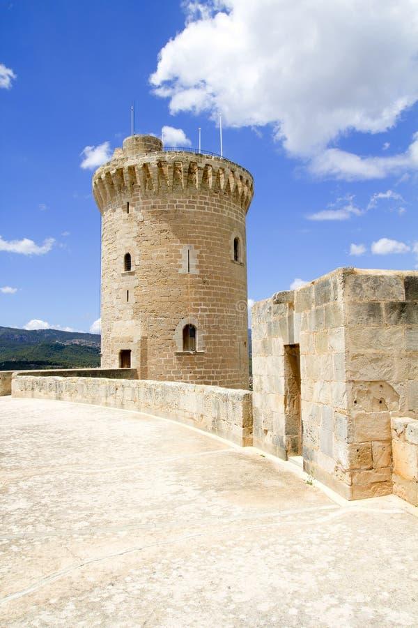 Kasteel in Palma van Mallorca stock foto