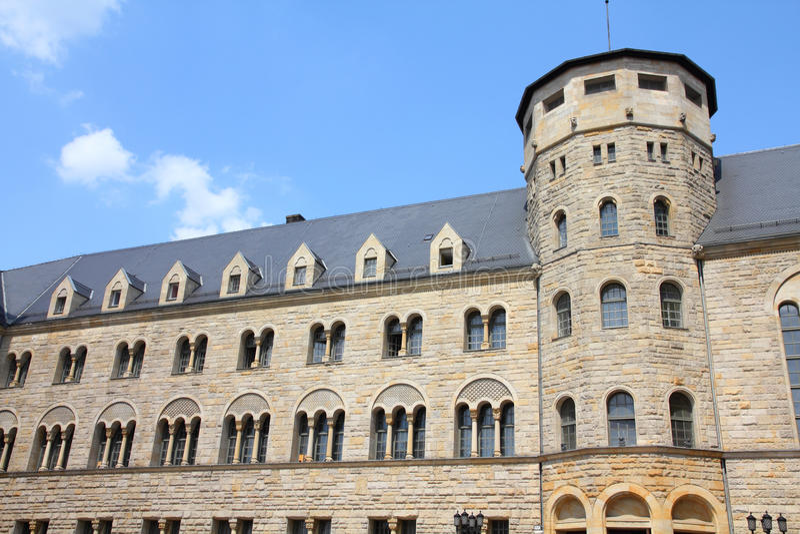 Kasteel in Poznan stock afbeelding