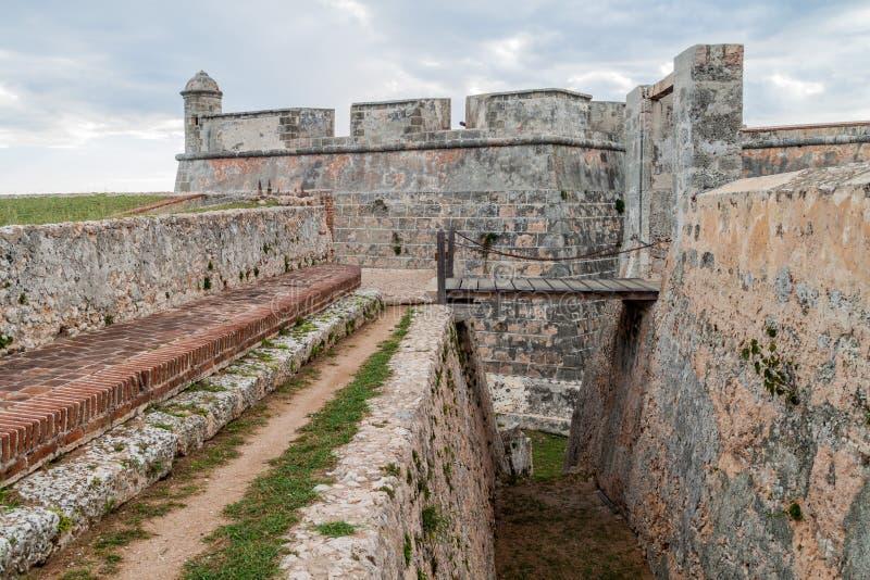 Kasteel San Pedro de la Roca del Morro, Santiago de Cuba, Cu stock foto