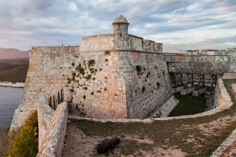 Kasteel San Pedro de la Roca del Morro, Santiago de Cuba, Cu royalty-vrije stock afbeeldingen
