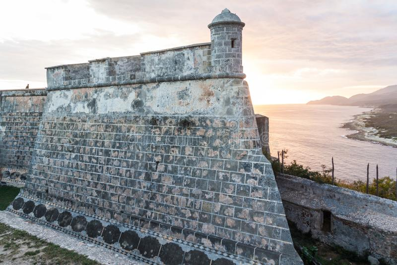 Kasteel San Pedro de la Roca del Morro, Santiago de Cuba, Cu stock fotografie