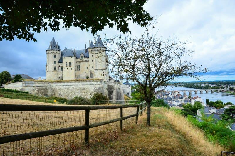 Kasteel in Saumur Frankrijk stock foto's