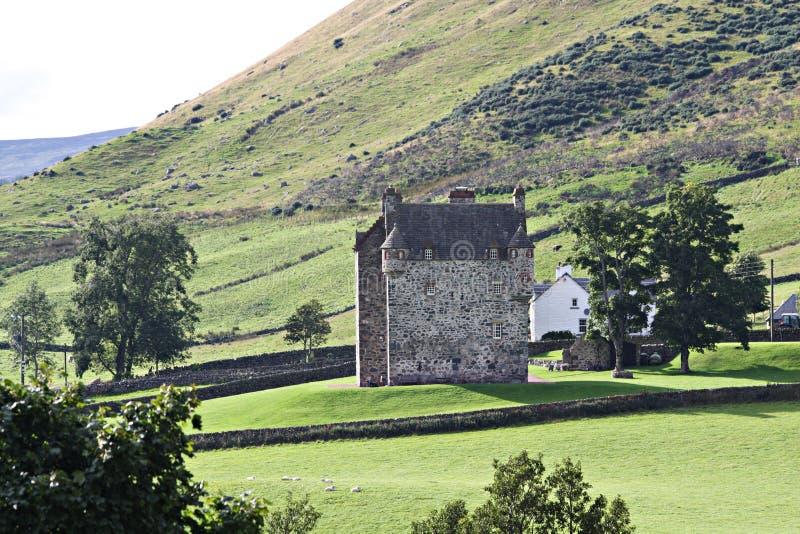 Kasteel in Schotland stock afbeelding