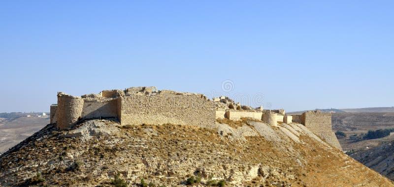 Kasteel Shobak in Jordanië. royalty-vrije stock fotografie