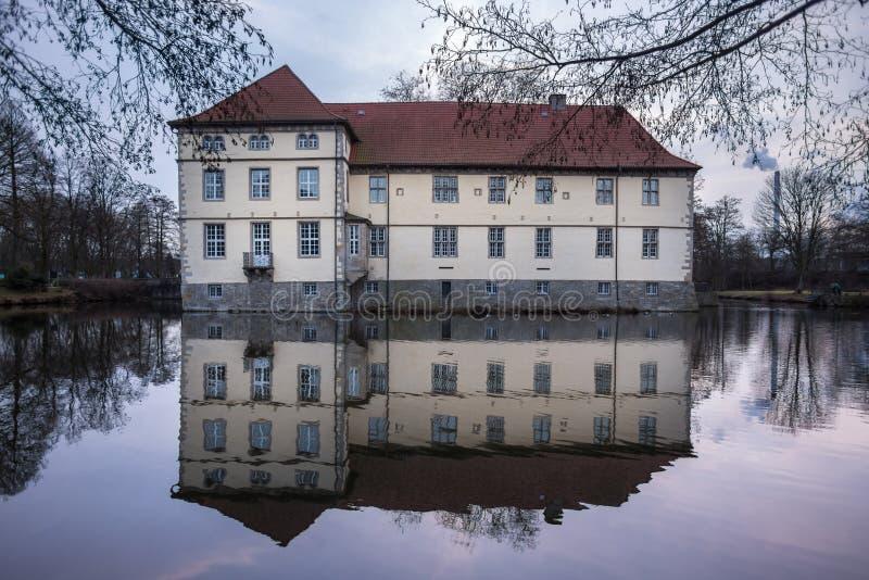 kasteel struenkede Herne Duitsland royalty-vrije stock foto's