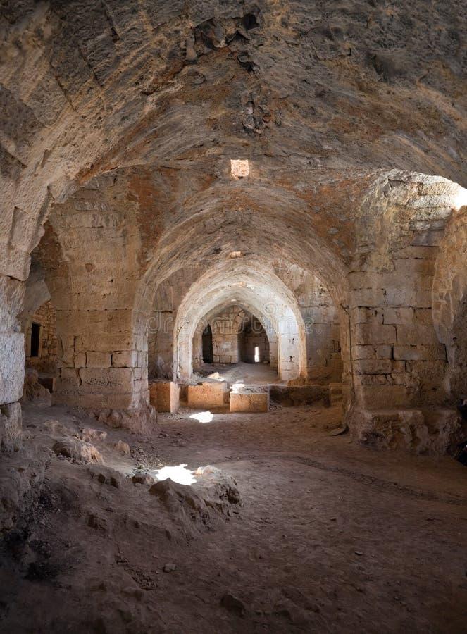Kasteel Syrië - Saladin (de advertentie DIN van Qala'at Salah) stock fotografie