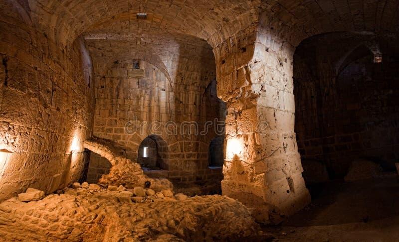 Kasteel Syrië - Saladin (de advertentie DIN van Qala'at Salah) royalty-vrije stock afbeelding