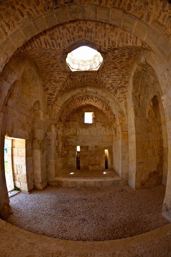 Kasteel Syrië - Saladin (de advertentie DIN van Qala'at Salah) royalty-vrije stock fotografie