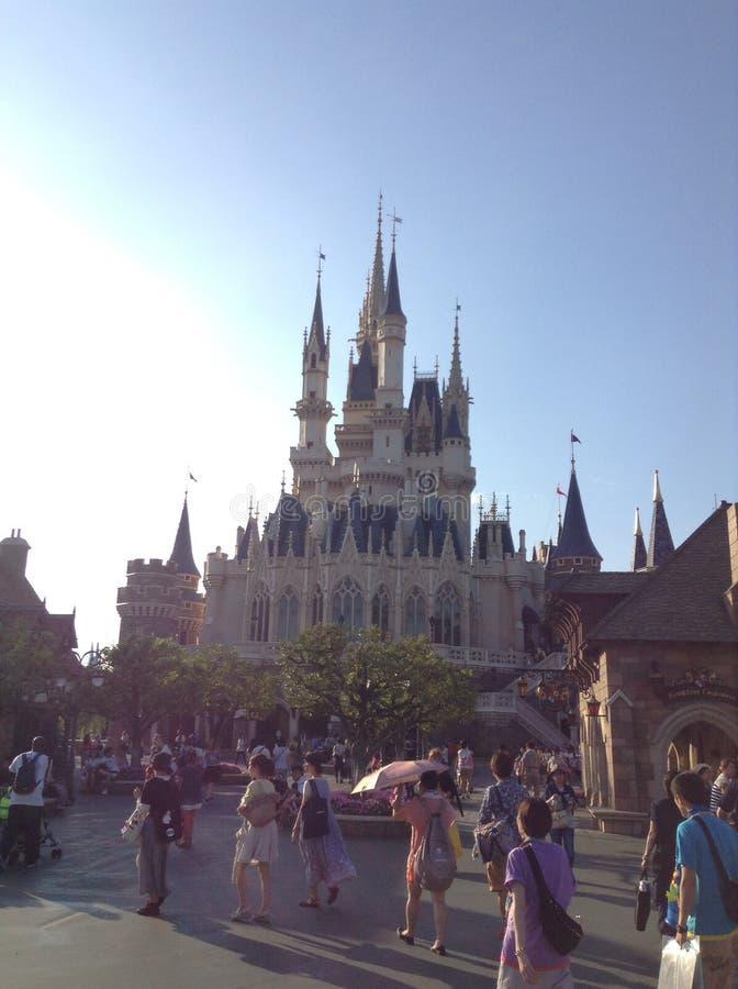 Kasteel Tokyo Disneyland royalty-vrije stock foto