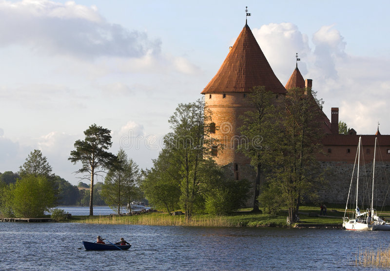 Kasteel in Trakai stock foto
