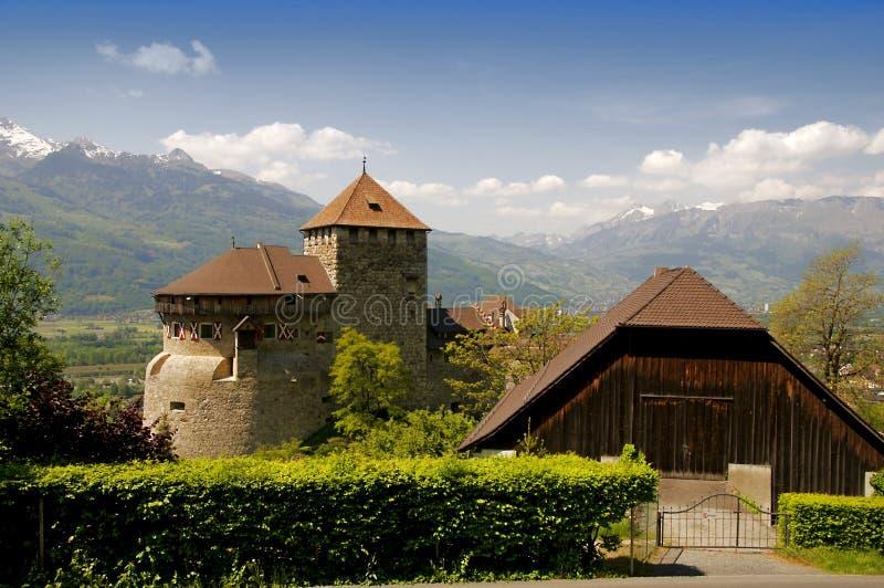 Kasteel in Vaduz royalty-vrije stock afbeeldingen