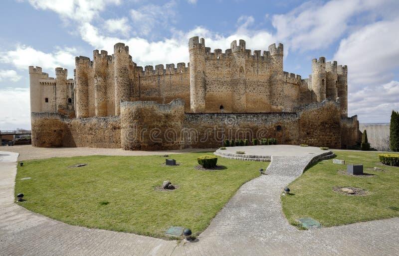 Kasteel in Valencia de Don Juan, Castilla en Leon royalty-vrije stock afbeelding