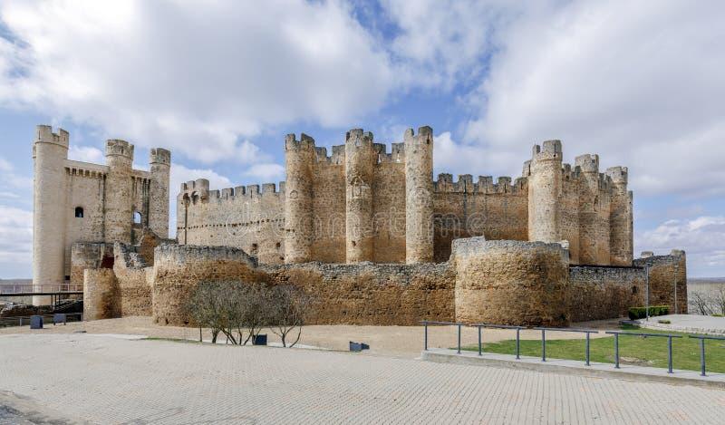 Kasteel in Valencia de Don Juan, Castilla en Leon royalty-vrije stock foto