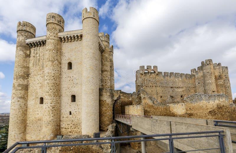 Kasteel in Valencia de Don Juan, Castilla en Leon royalty-vrije stock afbeeldingen