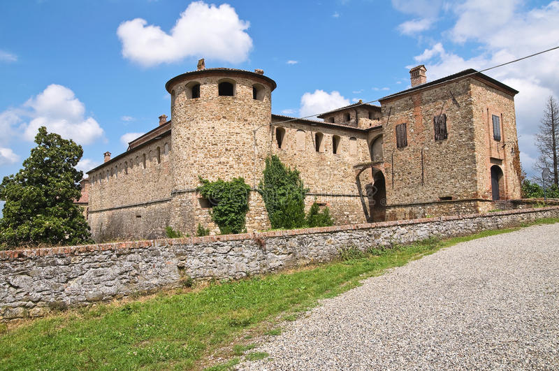 Kasteel van Agazzano. Emilia-Romagna. Italië. royalty-vrije stock afbeelding