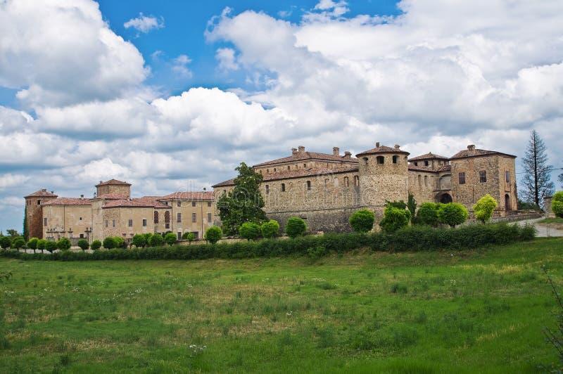 Kasteel van Agazzano. Emilia-Romagna. Italië. stock afbeeldingen