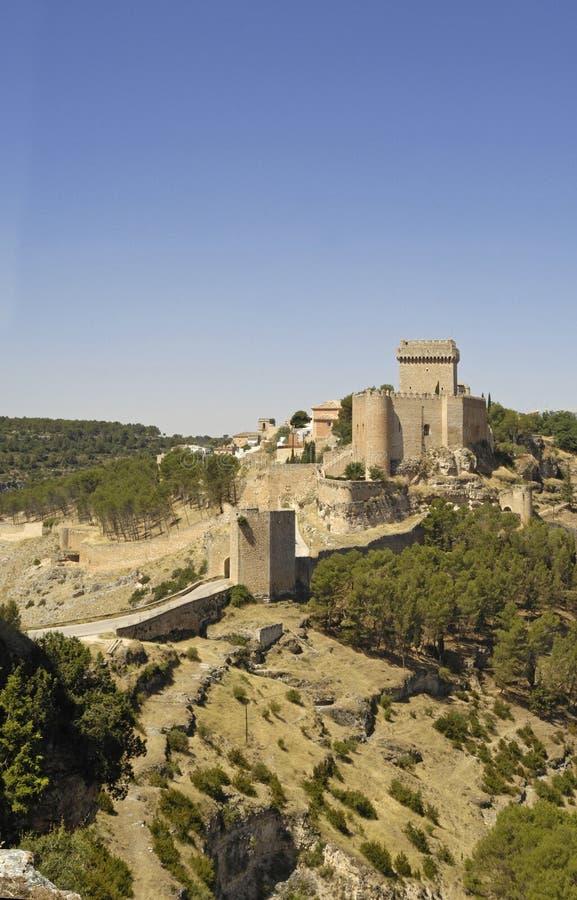 Kasteel van Alarcon, Cuenca, Castilla La Mancha royalty-vrije stock afbeelding