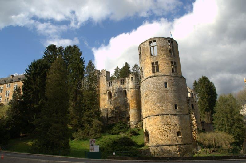 Kasteel van Beaufort, Luxemburg royalty-vrije stock foto