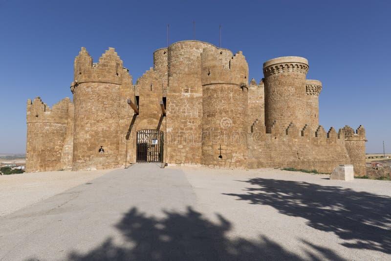 Kasteel van Belmonte in Cuenca stock fotografie