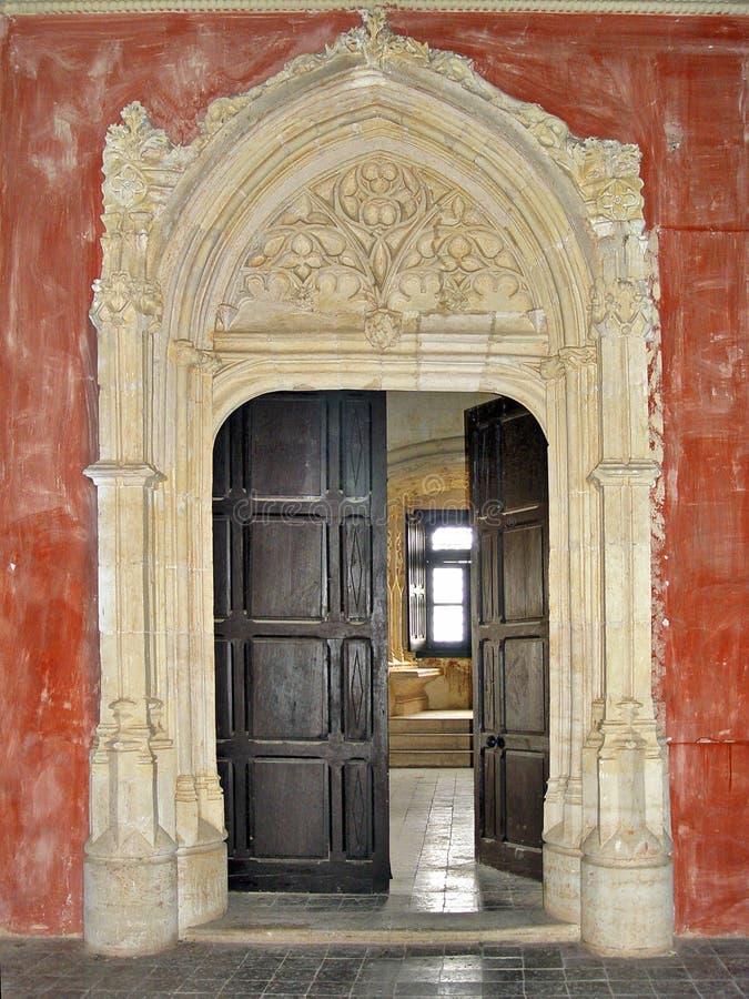 Kasteel van Belmonte, Cuenca, Spanje stock foto's